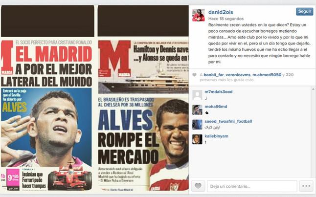Alves wyśmiewa Marcę