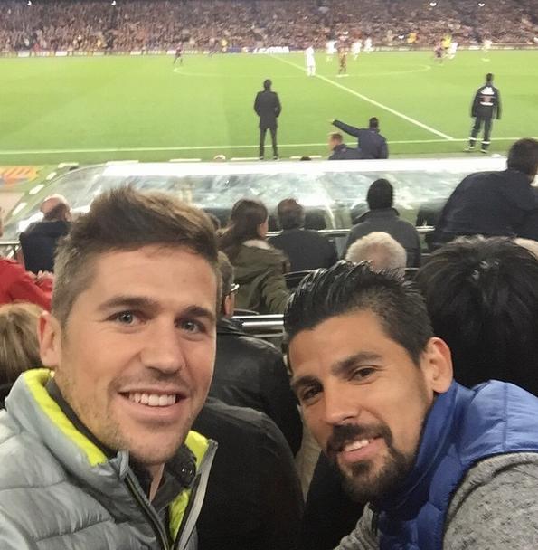 Nolito i Fontas obecni na Camp Nou