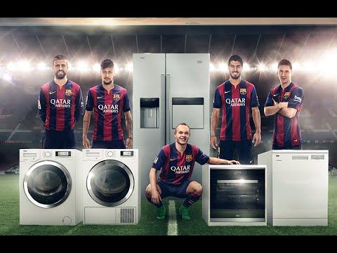 Reklama BEKO z piłkarzami Barcy
