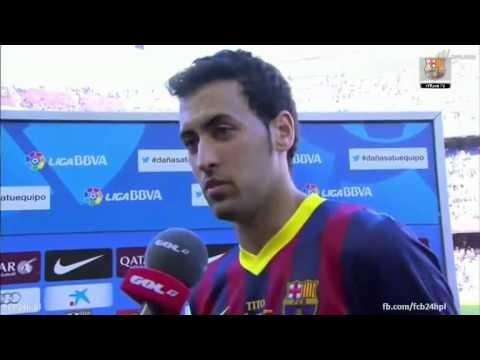 Busquets i Lafite po meczu FC Barcelona – Getafe