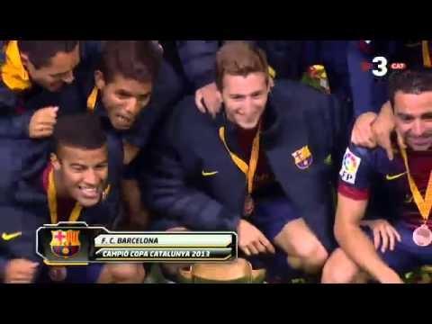 Celebracja po zwycięstwie w finale Pucharu Katalonii