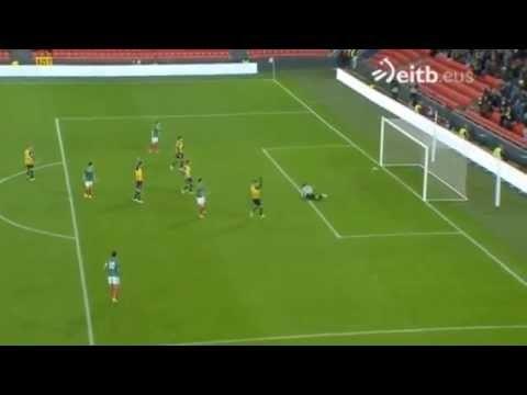 Euskadi 1 – 1 Cataluña Aritz Aduriz goal