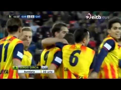 Euskadi 1-1 Cataluña, Sergio Garcia goal