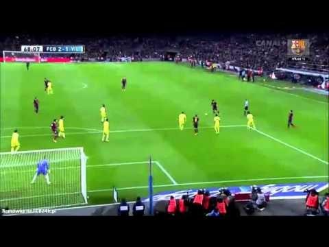 FC Barcelona vs Villarreal 2-1 Neymar goal