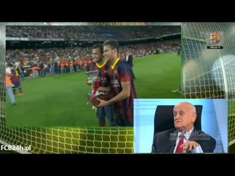 FC Barcelona z Superpucharem Hiszpanii – celebracja