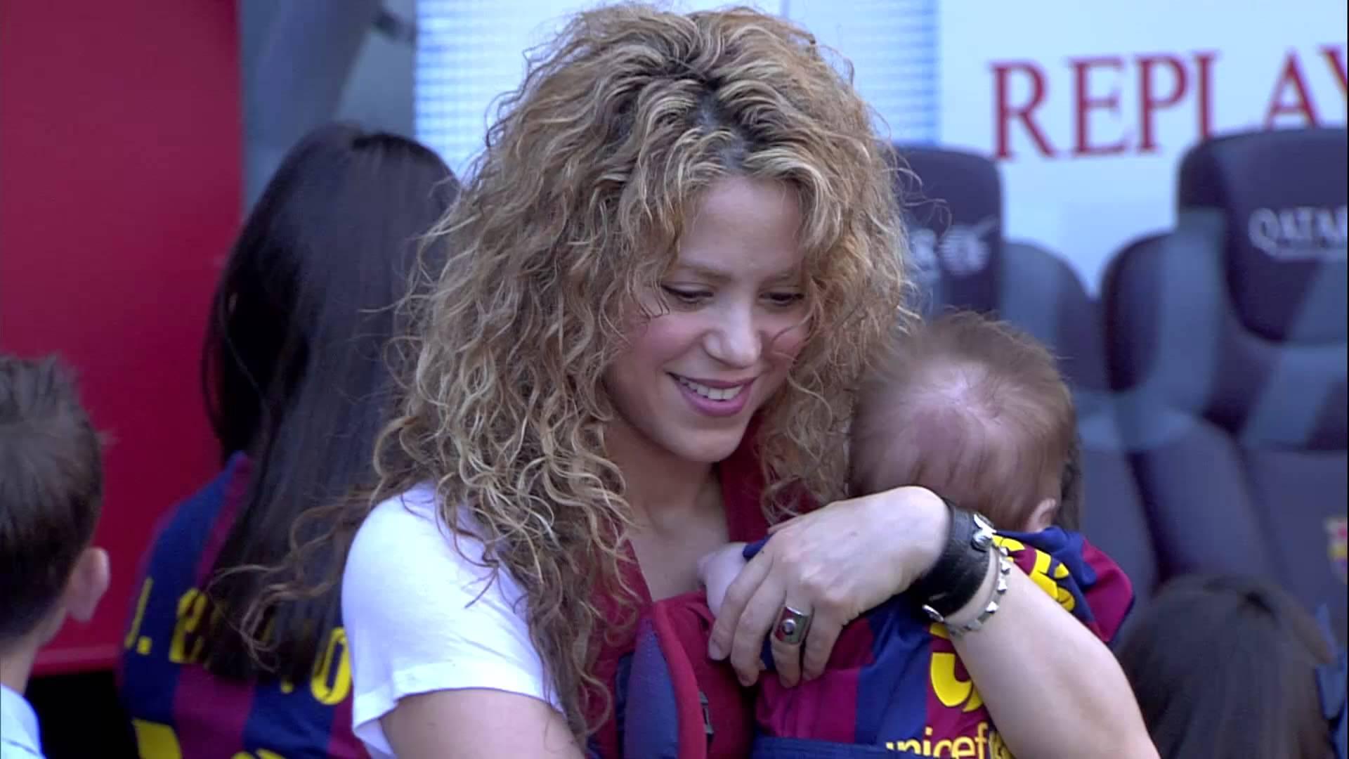 Sasha Pique na meczu taty