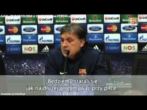 Tata Martino przed meczem z Ajaxem