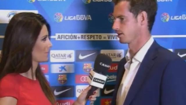 Andy Murray gościł na Camp Nou