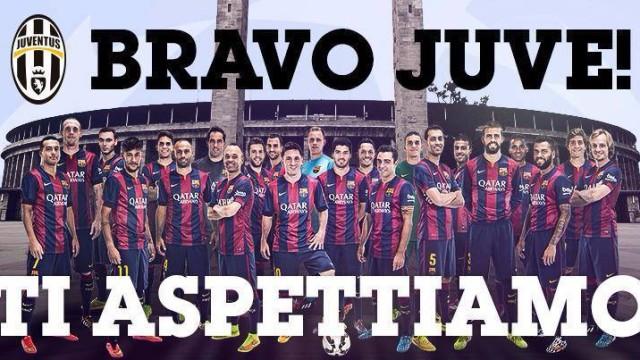 Juve z dubletem, Barca gratuluje