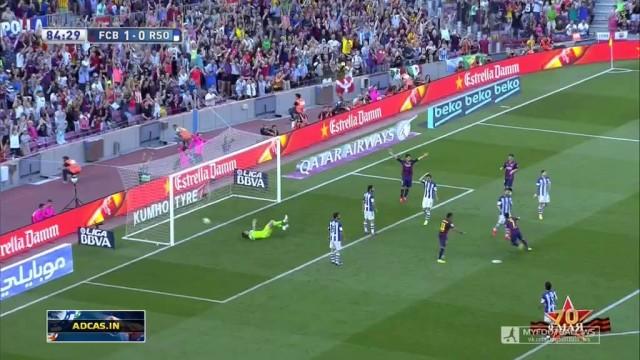 Gol z przewrotki Pedro !