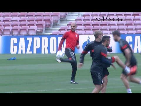 Trening Bayernu na Camp Nou
