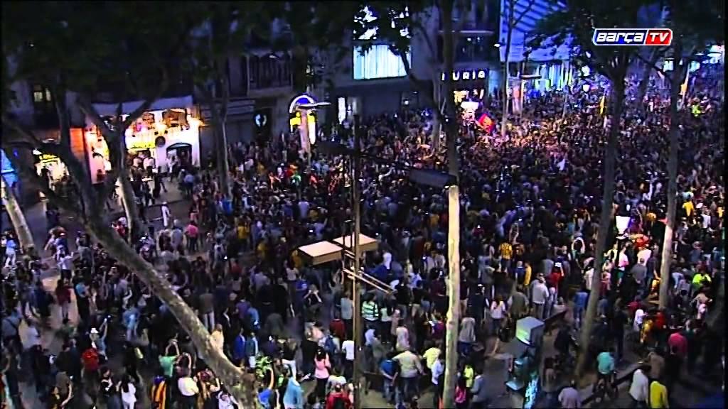 Video: Fiesta kibiców w Barcelonie