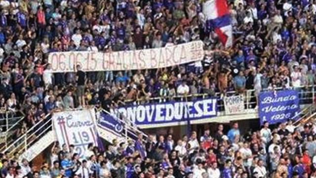 Fani Fiorentiny dziękują Barcy
