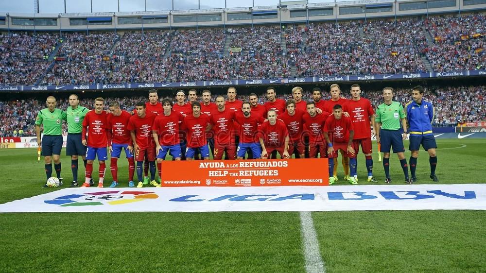 Barca i Atleti wspierają uchodźców