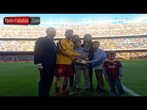 Messi odebrał nagrodę Aldo Roviry