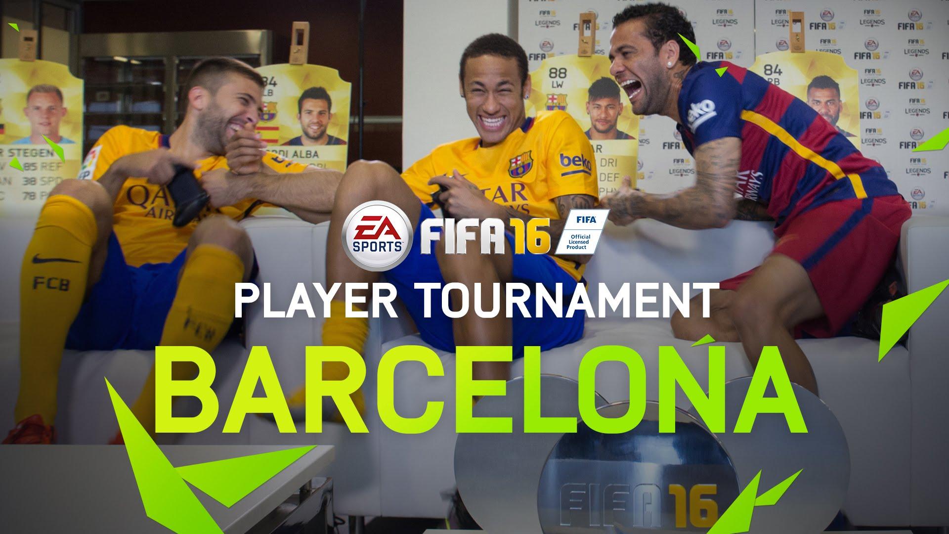 Piłkarze Barcy grają w FIFA16