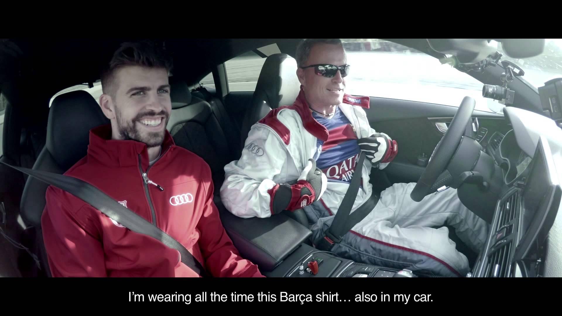 Piłkarze Barcy w reklamie Audi