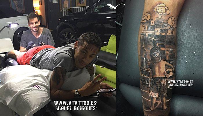 Nowy tatuaż Neymara