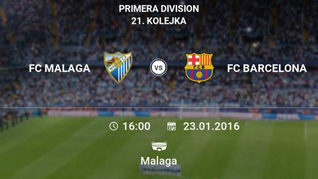 Zapowiedź meczu z Malagą [infografika]