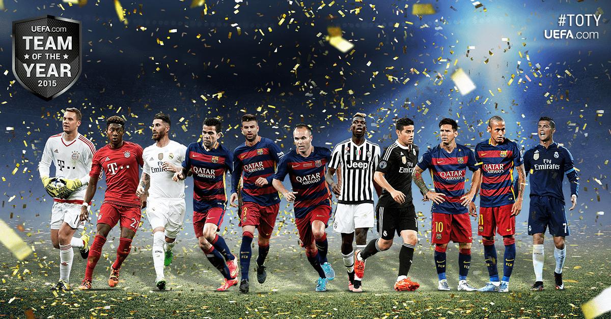 5 piłkarzy FCB w jedenastce roku UEFA