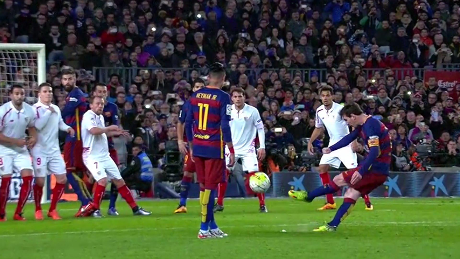 Kolejny gol Leo z wolnego