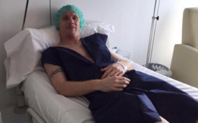 Mathieu już po operacji