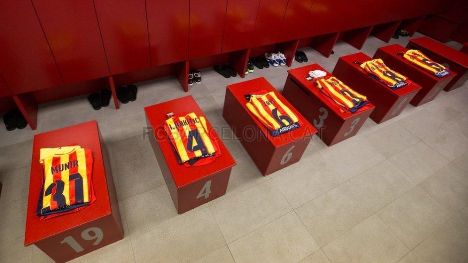 Z Atletico w wyjazdowych strojach