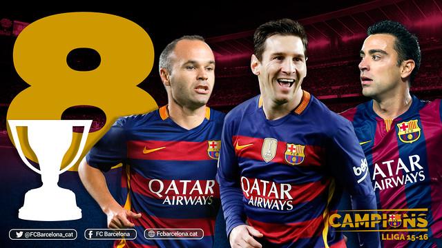 8 tytułów ligowych Iniesty i Messiego