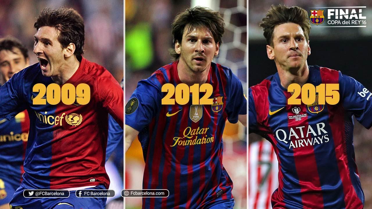 Gole Messiego w finałach Pucharu Króla