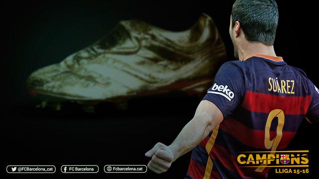 Złoty But 2016 dla Suareza