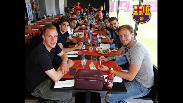 Trening i wspólny obiad