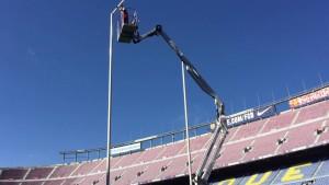Camp Nou przygotowane do rugby
