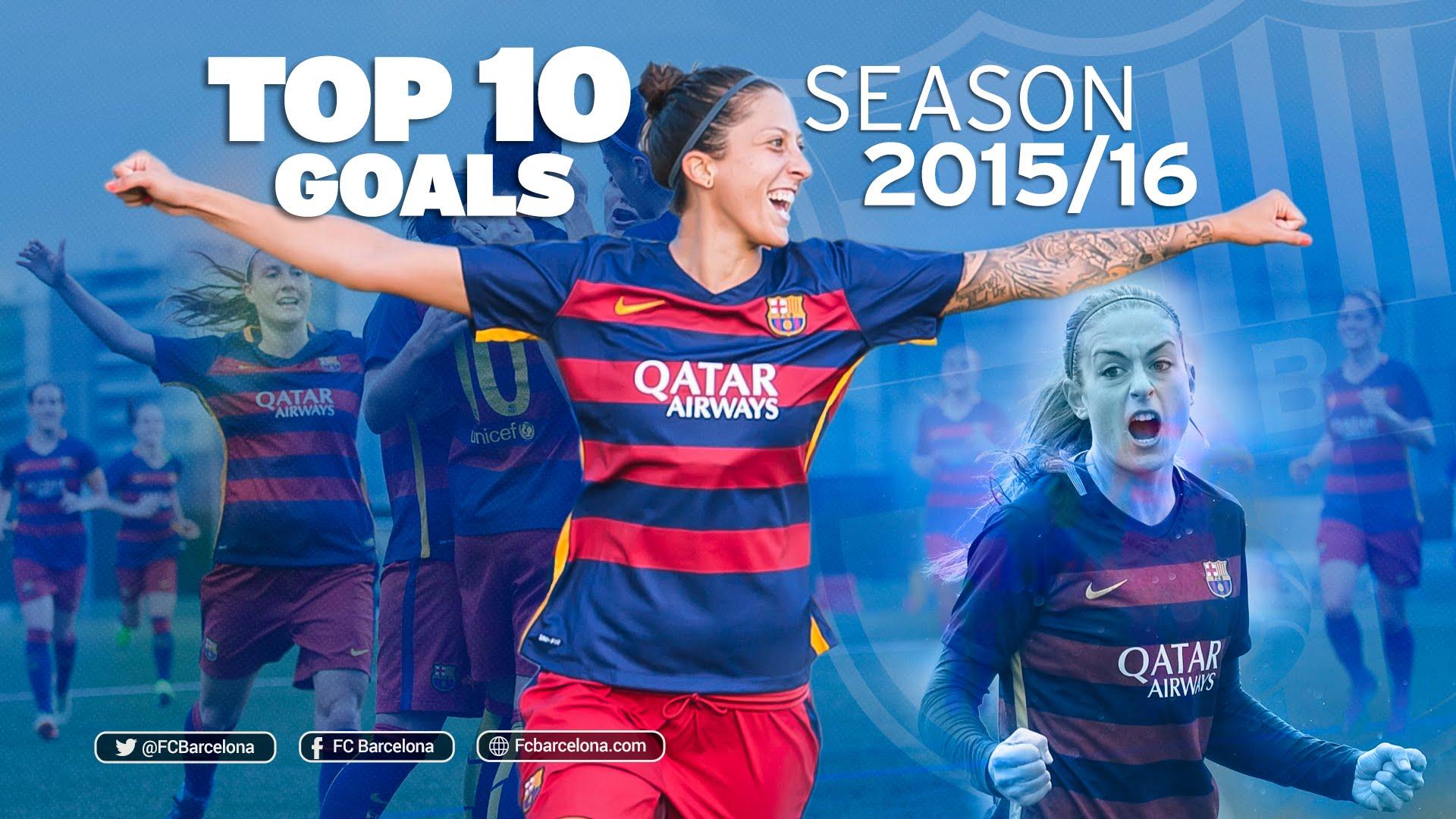 TOP10 bramek FCB Femení