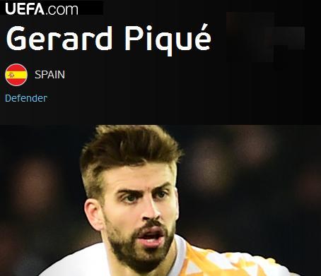 Pique najlepszym Hiszpanem na Euro
