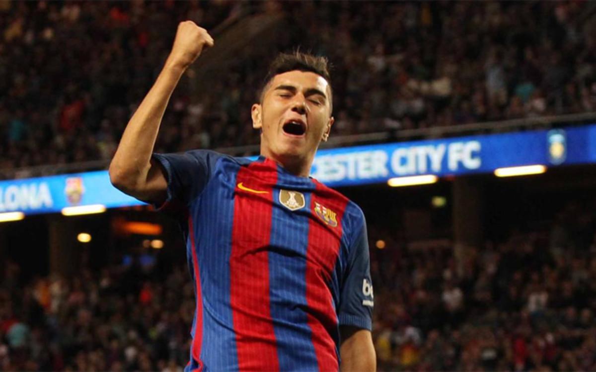 Pierwszy gol Mujicy dla Barcy