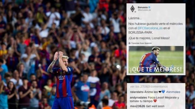 Messi przesyła wiadomość dla fanów