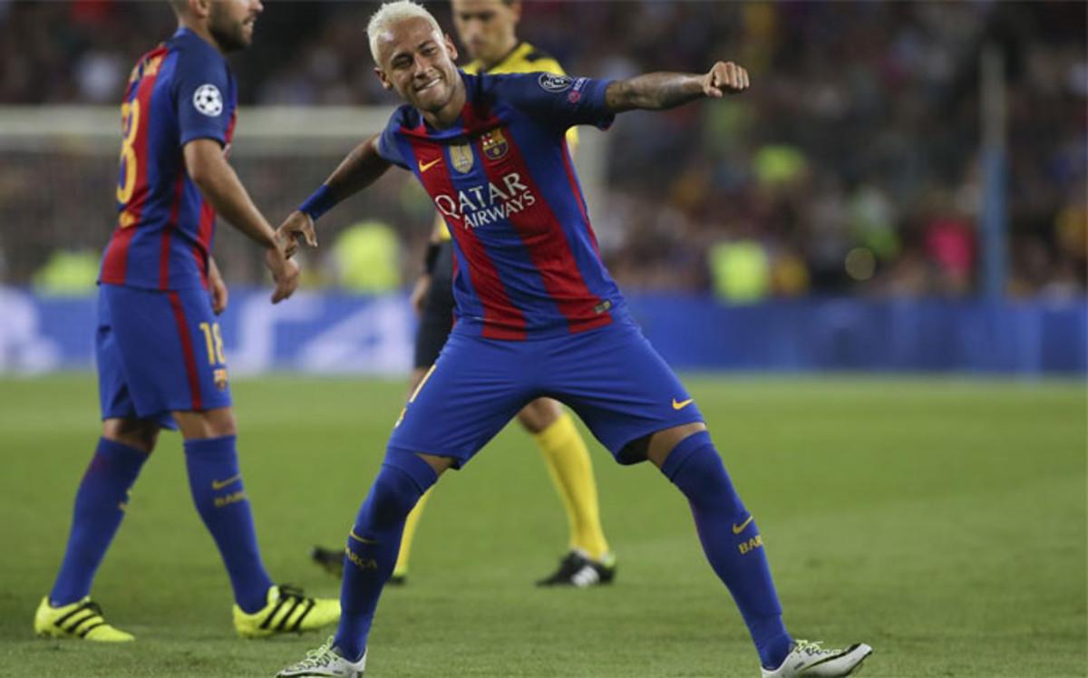 Cztery asysty Neymara!