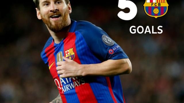 50 goli Leo w LM na Camp Nou