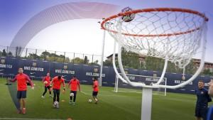 Piłkarze grali w FootBasket