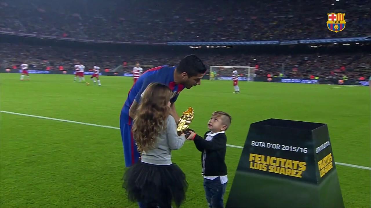 Suarez zaprezentował Złotego Buta