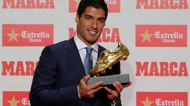 Suarez odebrał Złotego Buta