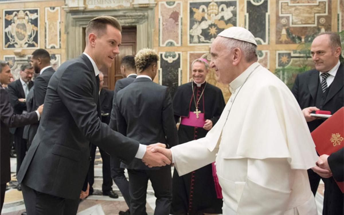 Ter Stegen spotkał się z papieżem