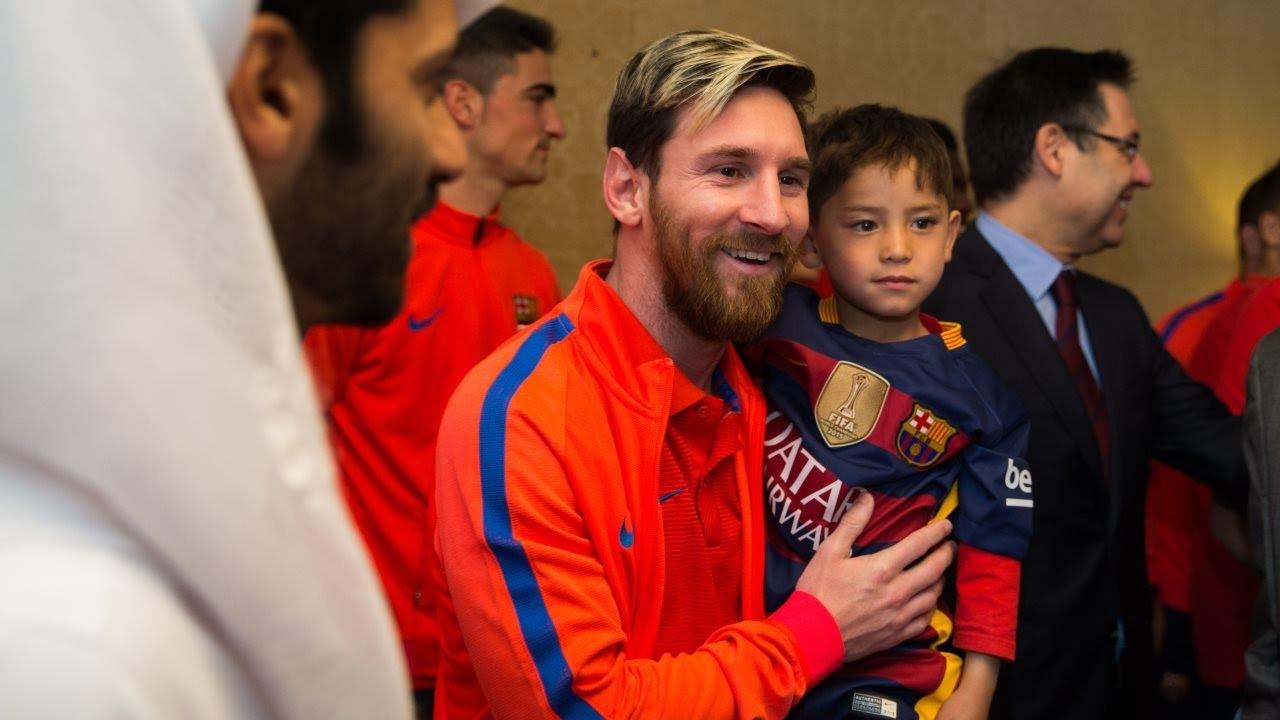 Messi spotkał się z afgańskim chłopcem