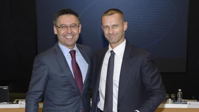 Wizyta prezesa UEFA na Camp Nou
