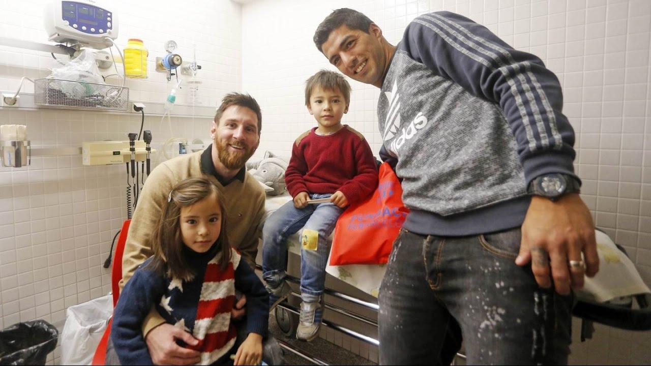 Piłkarze odwiedzili szpitale