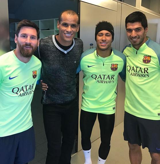 Rivaldo i Douglas odwiedzili Ciutat