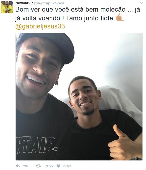 Spotkanie Neymara z Gabrielem Jesusem