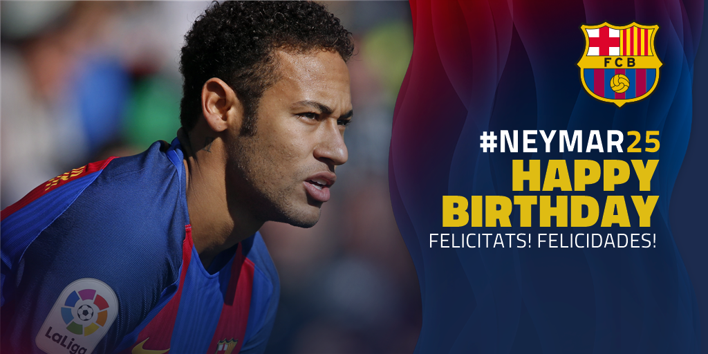 Feliz cumpleaños Neymar !