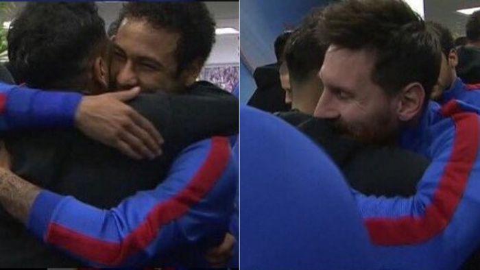 Serdeczne przywitanie z Alvesem