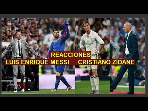 Reakcje CR7, Leo, Lucho i Zidane'a
